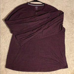 Long sleeve maroon old navy shirt